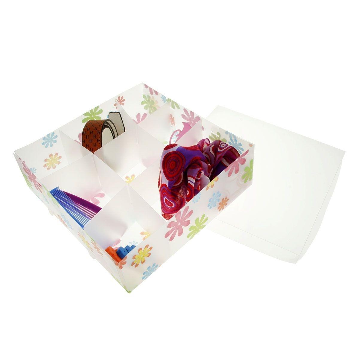 короб для хранения 30*30*10, 9 ячеек, с крышкой, цветочки 608991FS-80299Коробка для мелочей изготовлена из прочного пластика. Предназначена для хранения мелких бытовых мелочей, принадлежностей для шитья и т.д. Коробка оснащена плотно закрывающейся крышкой, которая предотвратит просыпание и потерю мелких вещиц.Коробка для мелочей сохранит ваши вещи в порядке. Материал: Пластик
