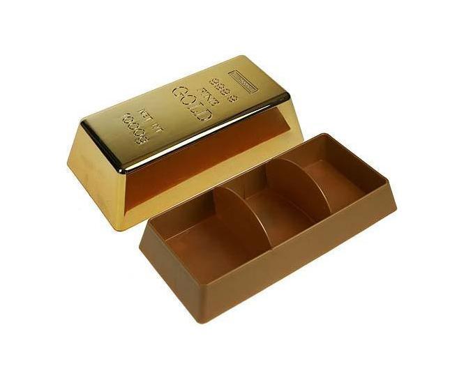 Шкатулка Золотой слиток 22*11*6смa030073Шкатулка Русские подарки Золотой слиток 218404 сохранит ваши ювелирные изделия в первозданном виде. С ней вы сможете внести в интерьер частичку элегантности. Данная модель выполнена из качественных материалов и станет оригинальным подарком. Материал: ABS-пластик; цвет: золотой