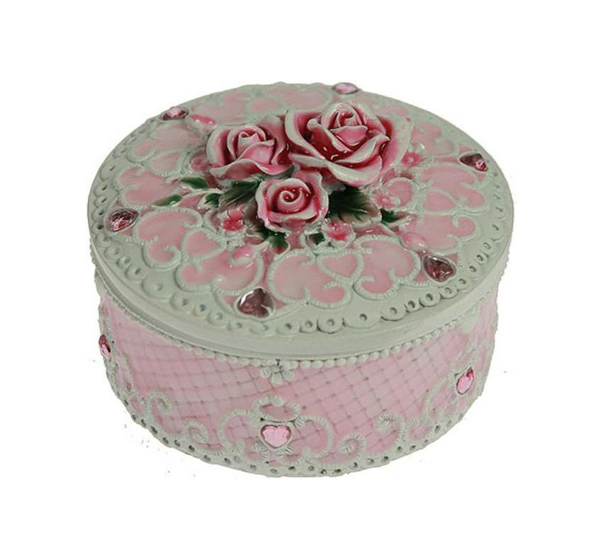 Шкатулка Нежность, цвет: розовый, 9 х 9 х 6 см 22485439695Шкатулка Русские подарки Нежность 224854 сохранит ваши ювелирные изделия в первозданном виде. С ней вы сможете внести в интерьер частичку элегантности. Данная модель выполнена из качественных материалов и станет оригинальным подарком. Характеристики:Материал: полистоун. Цвет: розовый. Размер шкатулки: 9 см х 9 см х 6 см. Размер упаковки: 12 см х 11,5 см х 10 см. Артикул: 224854.