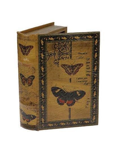 Шкатулка-фолиант Бабочки 21*13*5смRG-D31SОригинальная шкатулка Русские подарки Бабочки 184119 оформлена в виде старинной книги. Хранить в ней можно бижутерию, украшения и многое другое. Эта модель придаст любому интерьеру изысканность и будет великолепным подарком. Материал: MDF, кож. зам; цвет: желтый