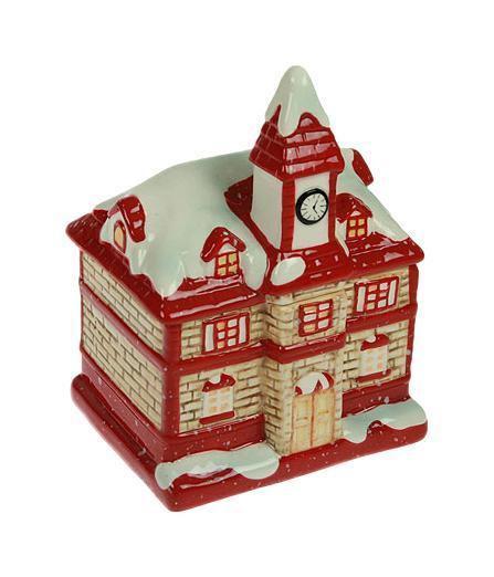 Шкатулка Домик 11*9*15см 119713175232Шкатулка Русские подарки Домик 119713 для хранения ювелирных украшений не оставит равнодушной ни одну любительницу изысканных вещей. Она выполнена в виде домика, запорошенного снегом и особенно понравится девочкам. Материал: керамика; цвет: красный