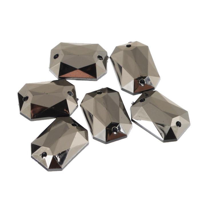 Стразы пришивные Астра, акриловые, прямоугольные, цвет: графит (36), 13 мм х 18 мм, 6 шт. 7701653_36RSP-202SНабор страз Астра, изготовленный из акрила, позволит вам украсить одежду и аксессуары. Стразы оригинального и яркого дизайна прямоугольной формы оснащены отверстиями для пришивания.Украшение стразами поможет сделать любую вещь оригинальной и неповторимой. Размер: 13 мм х 18 мм х 5 мм.