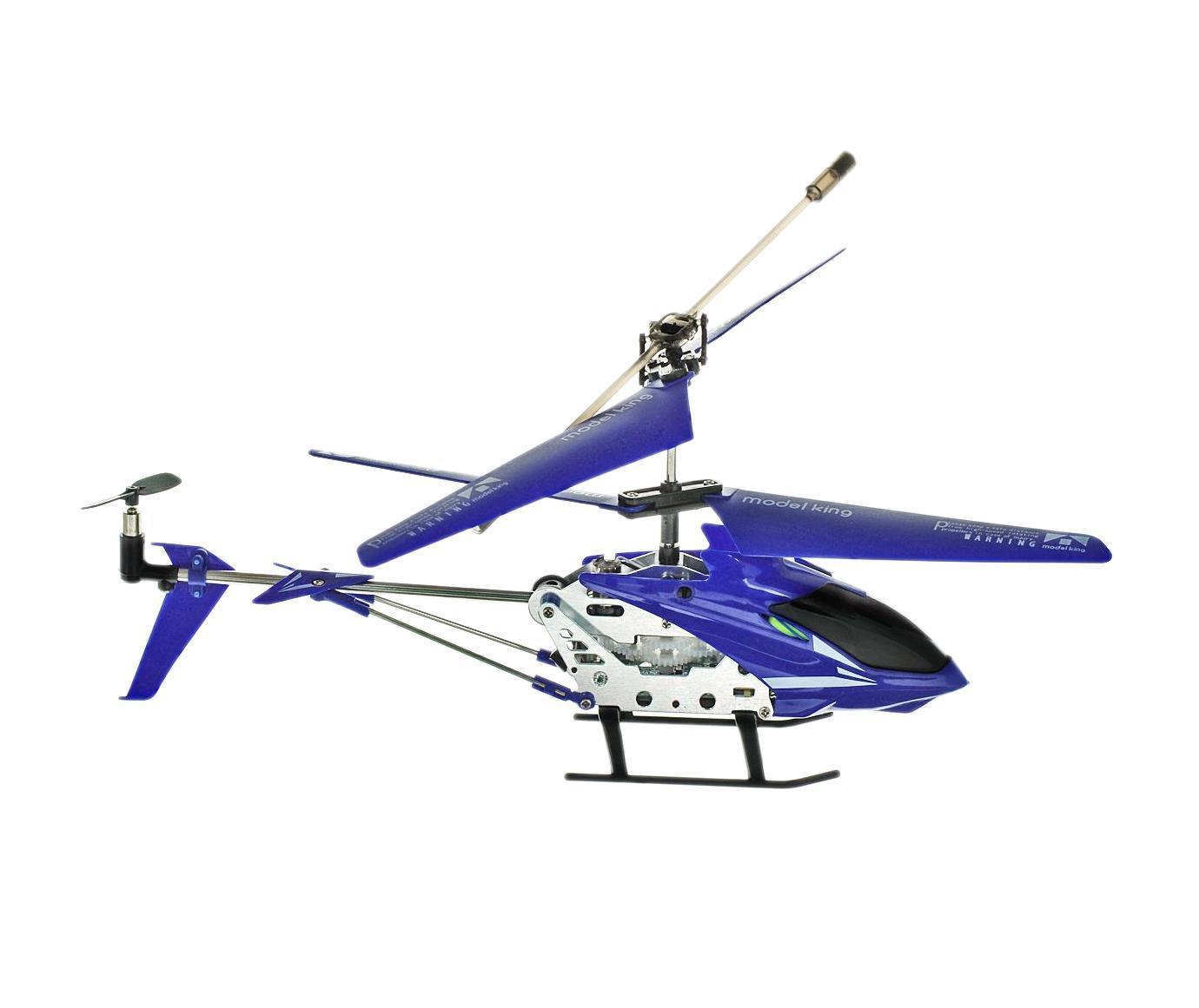 Junfa Toys Вертолет на радиоуправлении Model King цвет синий