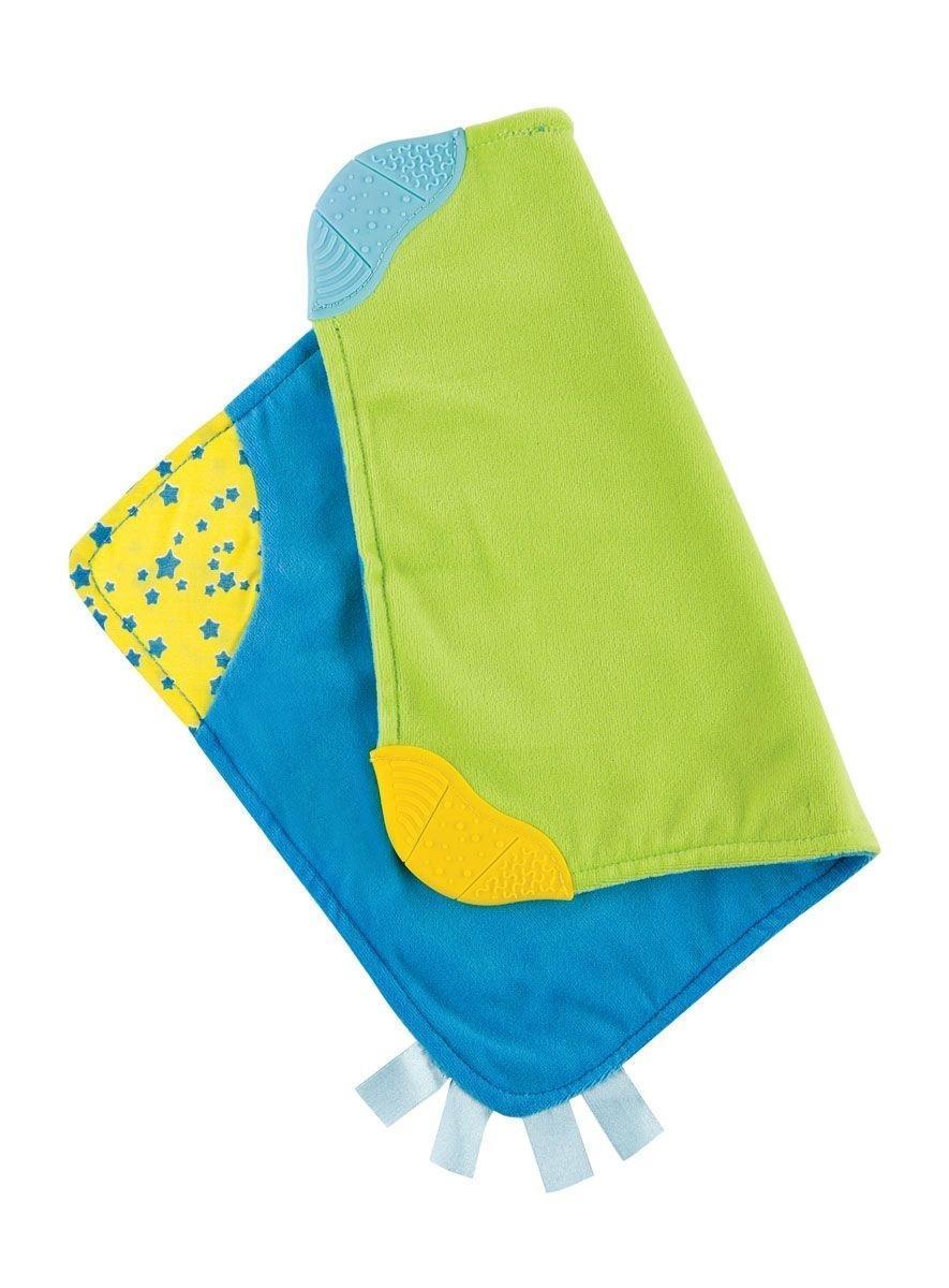 Happy Baby Платочек-прорезыватель цвет зеленый синий