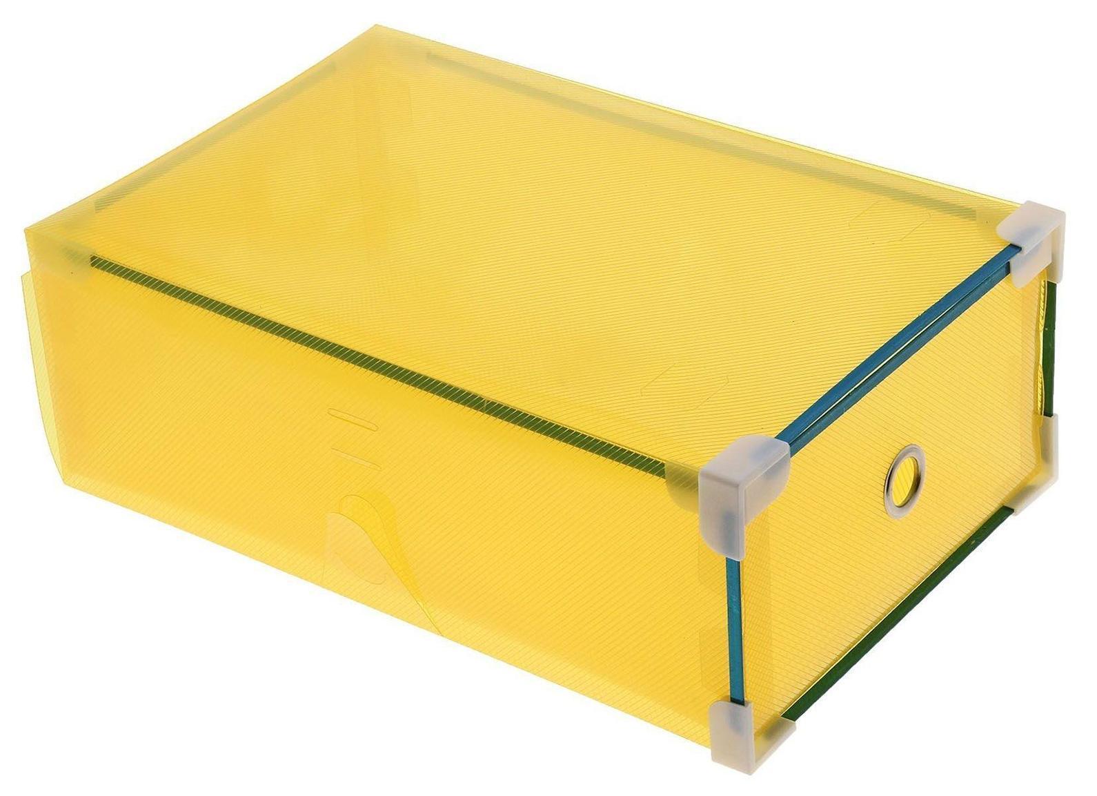 короб для хранения выдвижной 31*19,5*10,5см желтый 7099636907099630009Коробка для мелочей изготовлена из прочного пластика. Предназначена для хранения мелких бытовых мелочей, принадлежностей для шитья и т.д. Коробка оснащена плотно закрывающейся крышкой, которая предотвратит просыпание и потерю мелких вещиц.Коробка для мелочей сохранит ваши вещи в порядке. Материал: Пластик, металл