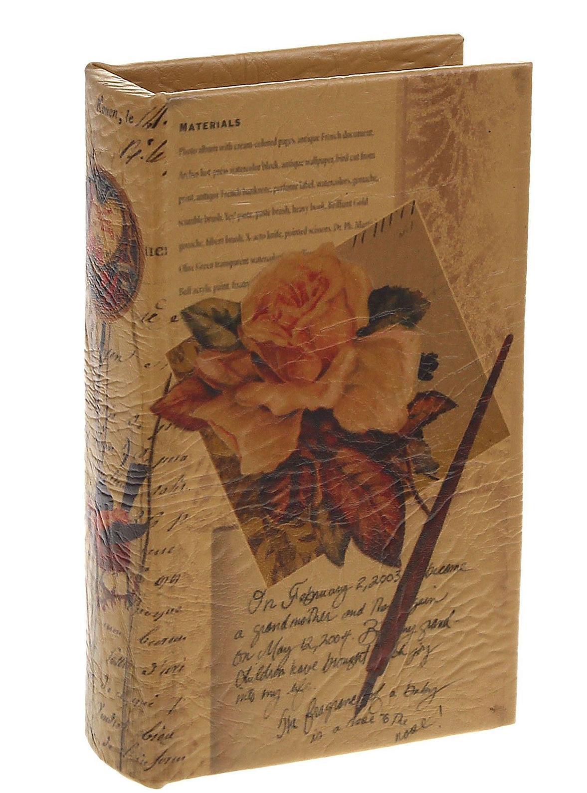 Книга-сейф Письма. 521825Брелок для ключейЭтот оригинальный сувенир выполнен в виде книги, содержащей внутри металлический сейф, надежно закрывающийся на ключ. Обложка выполнена из плотного картона и пластика. Снаружи книга-сейф обита кожей, украшенной цветочным рисунком и строчками из писем. Книга-сейф предназначена для хранения необходимых мелочей и может послужить отличным подарком для ваших друзей и близких.В комплекте два ключа для книги-сейфа. Характеристики:Материал: дерево, металл, искусственная кожа. Размер сейфа-книги: 17 см х 11 см х 5 см. Внутренний размер сейфа-книги: 13,5 см х 7,5 см х 4 см. Количество ключей от сейфа-книги: 2. Размер упаковки: 18 см х 12 см х 6 см. Цвет: светло-коричневый. Артикул: 521825.