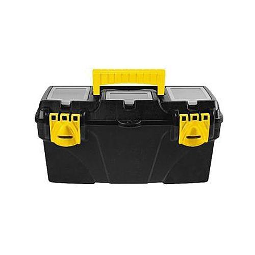 Ящик для инструментов пластиковый FIT, 41 х 21,5 х 19,7 см2706 (ПО)Ящик FIT 65562 предназначен для бережного и компактного хранения различного инструмента и крепежа. Данная модель обладает вместительными габаритами и имеет длину по диагонали 16 дюймов. Также, ящик FIT 65562 изготовлен из ударопрочного пластика и оснащен усиленной рукояткой для переноски.