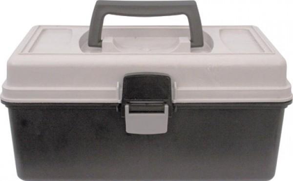 Ящик для инструментов Калита, 31 x 18 x 15 см2706 (ПО)Пластиковый ящик Калита предназначен для хранения и транспортировки инструментов. В нем можно разместить все необходимые для работы предметы, тем самым создав свой индивидуальный набор инструментов и аксессуаров. Большая защелка надежно защищает его от непреднамеренного открывания. Такой ящик пригодится как профессионалу, так и домашнему мастеру: он позволяет держать инструменты в одном месте и обеспечивает их сохранность. Характеристики: Материал: пластик. Размеры лотка: 29,5 см х 16 см х 10,5 см. Размеры ящика: 31 см х 18 см х 15 см. Глубина ящика:11,5 см. Размеры упаковки: 31 см х 18 см х 15 см.