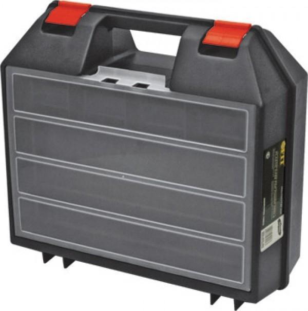 Ящик пластиковый FIT для электроинструмента, 36 х 32 х 14 см98293777Ящик FIT 65606 предназначен для хранения и транспортировки инструмента, крепежа, мелких элементов и электродеталей. Данная модель обладает прочной конструкцией и имеет габаритные размеры 36х32х14 см. Также, ящик FIT 65606 идеально подойдет для электроинструмента и комплектуется встроенным органайзером для мелочей.