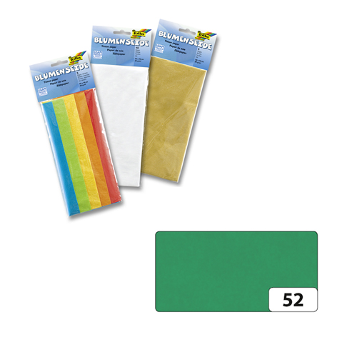 Бумага папиросная Folia, цвет: темно-зеленый (52), 50 х 70 см, 5 листов. 7708123_5255052Бумага папиросная Folia - это великолепная тонкая и эластичная декоративная бумага. Такая бумага очень хороша для изготовления своими руками цветов и букетов с конфетами, топиариев, декорирования праздничных мероприятий. Также из нее получается шикарная упаковка для подарков. Интересный эффект дает сочетание мягкой полупрозрачной фактуры папиросной бумаги с жатыми и матовыми фактурами: креп-бумагой, тутовой и различными видами картона. Бумага очень тонкая, полупрозрачная - поэтому ее можно оригинально использовать в декоре стекла, светильников и гирлянд. Достаточно большие размеры листа и богатая цветовая палитра дают простор вашей творческой фантазии. Размер листа: 50 см х 70 см.Плотность: 20 г/м2.