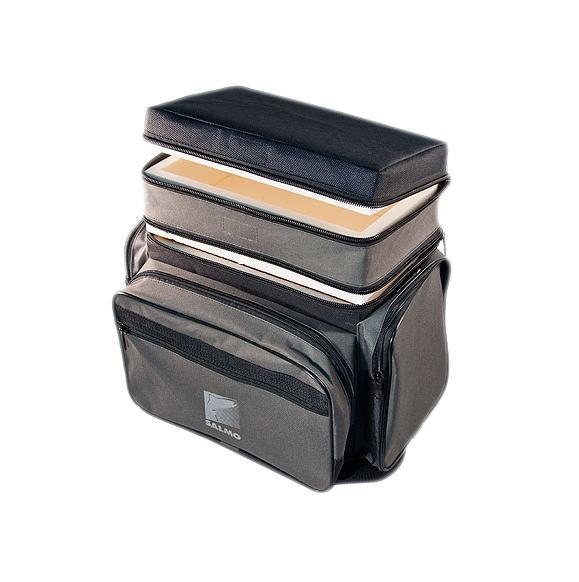 Ящик-рюкзак рыболовный Salmo, зимний, 2 яруса ящик рыболовный salmo трехполочный цвет зеленый