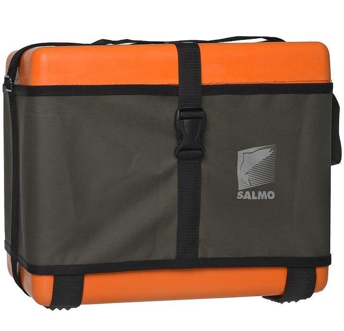 Ящик рыболовный зимнийSalmo, цвет: оранжевый, 40 х 22 х 32 см1500-87Зимний ящик отлично подходит для ловли на льду, можно на нем и посидеть изимние удочки туда положить, да и улов домой донести. Ящик укомплектован внутренним лотком, а также съемными боковым карманом и лотком, которые позволяют удобно разместить снести и наживку.