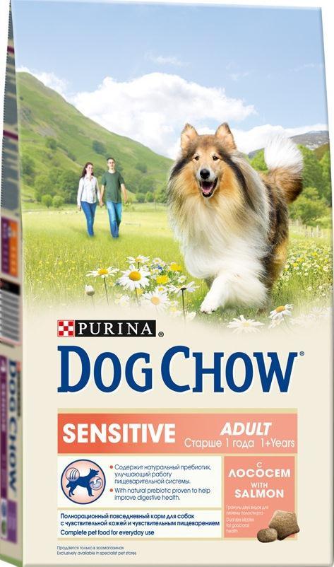 Корм сухой Dog Chow Sensitive для взрослых собак с чувствительным пищеварением, с лососем, 2,5 кг0120710Сухой корм Dog Chow Sensitive - 100% полнорационное сбалансированное питание, предназначенное для собак с чувствительной кожей и чувствительным пищеварением. Содержит натуральный пребиотик, улучшающий работу пищеварительной системы. Цикорий - источник натурального пребиотика, который, как показали исследования, способствует росту численности полезных кишечных бактерий и нормализации деятельности пищеварительной системы. Корм для собак с чувствительной кожей и чувствительным пищеварением содержит омега-3 жирные кислоты, которые поддерживают здоровье чувствительной кожи и шерсти, а также натуральный пребиотик, улучшающий работу пищеварительной системы, помогая вашему питомцу быть счастливым. Гранулы двух видов для гигиены полости рта. Специальная форма и текстура гранул способствует легкому пережевыванию и поддержанию здоровья полости рта. Наши диетологи и заводчики тщательно протестировали это сочетание гранул для гарантии того, что они подходят и нравятся взрослым собакам различных пород. Содержит лосось - источник высококачественного белка для поддержания хорошего пищеварения. Оптимальный уровень омега-3 и омега-6 жирных кислот, которые сдерживают связанные с пищевой чувствительностью кожные реакции, помогают коже сохранять естественную влажность и эластичностьСодержит витамин Е, который в качестве антиоксиданта участвует в борьбе со свободными радикалами и укрепляет естественную защиту организма. Состав: злаки, мясо и продукты переработки мяса, продукты переработки сырья растительного происхождения, масла и жиры, рыба и продукты переработки рыбы (в том числе лосось), овощи (сухой корень цикория), минеральные вещества, витамины, антиоксиданты. Добавленные вещества (на 1 кг): витамин А 20300 МЕ, витамин D3 1180 МЕ, витамин Е 97 МЕ; железо 84,3 мг, йод 2,1 мг, медь 9,4 мг, марганец 6,4 мг, цинк 151,5 мг, селен 0,21 мг. Гарантируемые показатели: белок 23%, жир 10%, 