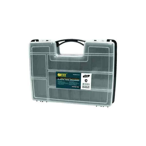 Ящик для крепежа FIT, двухсторонний, 29,5 х 22 х 7,6 см0-69-251Ящик FIT 65646 будет полезен не только домашнему умельцу, но и профессионалу, являясь отличным приспособлением для хранения и транспортировки инструмента. Данная модель отличается прочностью конструкции и имеет длину по диагонали 12 дюймов. Также, ящик FIT 65646 обладает двухсторонней конструкцией и комплектуется переставными перегородками.