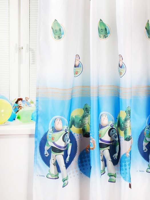 Портьера ТАС Toy Story, 200 см х 265 смUN111457620Портьера TAC Toy Story, изготовленная из плотного полиэстера, великолепно украсит окно детской комнаты. Портьера осуществит заветную мечту вашего ребенка окунуться в волшебный мир сказок, а любимые персонажи мультфильма История игрушек создадут атмосферу уюта для вашего малыша. Эта портьера будет долгое время радовать вас и вашего ребенка! Портьера крепится на карниз при помощи ленты, которая поможет красиво и равномерно задрапировать верх. Ширина ленты: 4 см. Уважаемые клиенты! Обращаем ваше внимание на тот факт, что ширина ленты может изменяться в зависимости от поставки.