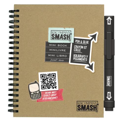 Папка K&Company Smash: Мини, 18 х 15 смKCO-30-629905Папка Smash используется для создания памятных альбомов и записных книжек. Папка содержит тематически оформленные страницы и памятные фразы на иностранном языке. Включает в себя 40 страниц и ручку-клей Smash черного цвета (без кислоты, архивного качества).