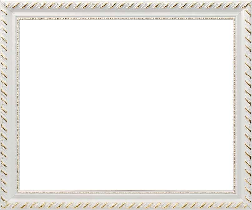 Багетная рама Constance, цвет: белый, золотистый, 40 х 50 смSHA0306Багетная рама Constance изготовлена из дерева. Багетные рамы предназначены для оформления картин, вышивок и фотографий.Оформленное изделие всегда становится более выразительным и гармоничным. Подбор багета для картин очень важен - от этого зависит, какое значение будет иметь выполненная работа в вашем интерьере. Если вы используете раму для оформления живописи на холсте, следует учесть, что толщина подрамника больше толщины рамы и сзади будет выступать, рекомендуется дополнительно зафиксировать картину клеем, лист-заглушку в этом случае не вставляют. В комплекте - крепежные элементы, с помощью которых изделие можно подвесить на стену и задник. Размер картины: 40 см х 50 см.Размер рамы: 48 см х 57,5 см х 2 см.