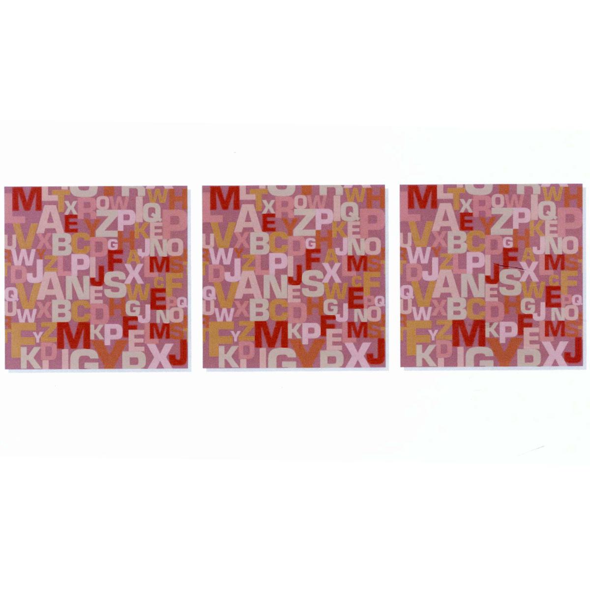 Модульная картина на холсте КвикДекор Буквы, 156 см х 50 см12723Модульная картина на холсте КвикДекор Буквы - это прекрасное решение для декора помещения. Картина состоит из трех частей (модулей), объединенных общей тематикой. Картина составная, то есть изображение на каждом модуле является самостоятельным. Такую композицию можно вешать как угодно - вертикально, горизонтально, со сдвигом или блоками. Модули вешаются на расстоянии 2-3 см друг от друга.Латексная печать (без запаха) на натуральном х/б холсте, галерейная натяжка на деревянные подрамники из высококачественной сосны. Такая картина будет потрясающе смотреться везде, где бы вы ее не повесили: в гостиной, спальне, офисе, в загородном доме, также подойдет для детской. Она оригинально украсит интерьер и сделает обстановку комфортной и уютной. Картина в стрейч-пленке с защитными картонными уголками упакована в гофрокоробку с термоусадкой. Размер модуля: 50 см х 50 см. Количество модулей: 3 шт. Общий размер картины: 156 см х 50 см. Художник: Ольга Парфенова.
