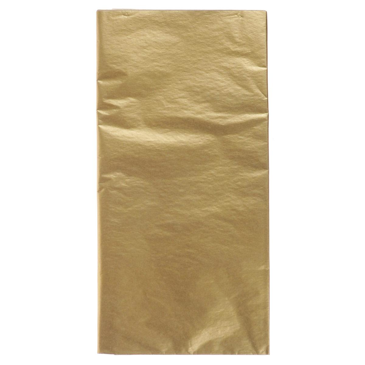 Бумага папиросная Folia, цвет: золотистый (65), 50 х 70 см, 5 листов. 7708124_6555052Бумага папиросная Folia - это великолепная тонкая и эластичная декоративная бумага. Такая бумага очень хороша для изготовления своими руками цветов и букетов с конфетами, топиариев, декорирования праздничных мероприятий. Также из нее получается шикарная упаковка для подарков. Интересный эффект дает сочетание мягкой полупрозрачной фактуры папиросной бумаги с жатыми и матовыми фактурами: креп-бумагой, тутовой и различными видами картона. Бумага очень тонкая, полупрозрачная - поэтому ее можно оригинально использовать в декоре стекла, светильников и гирлянд. Достаточно большие размеры листа и богатая цветовая палитра дают простор вашей творческой фантазии.Размер листа: 50 см х 70 см.Плотность: 20 г/м2.