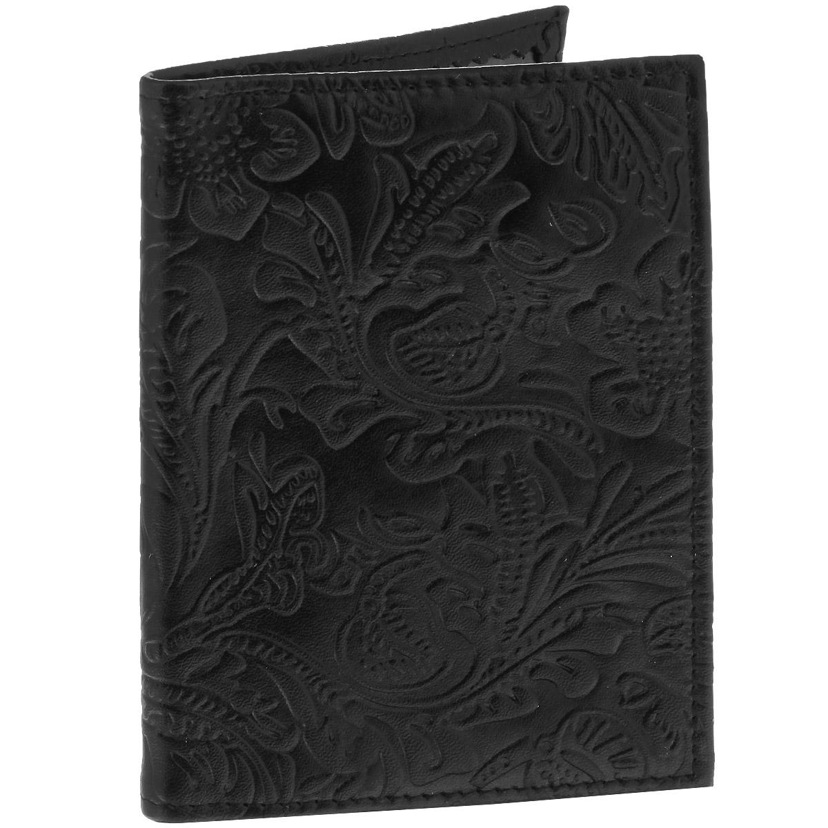 Обложка для паспорта Cheribags Узор, цвет: черный. OP-103330-A/Black-Lihte YellowЭлегантная обложка для паспорта Cheribags изготовлена из натуральной высококачественной кожи и оформлена тисненым растительным узором. Внутри - два прозрачных боковых кармана из пластика, которые прочно зафиксируют ваш паспорт.Модная обложка для паспорта не только поможет сохранить внешний вид вашего документа и защитить его от повреждений, но и станет стильным аксессуаром, который прекрасно дополнит ваш образ.