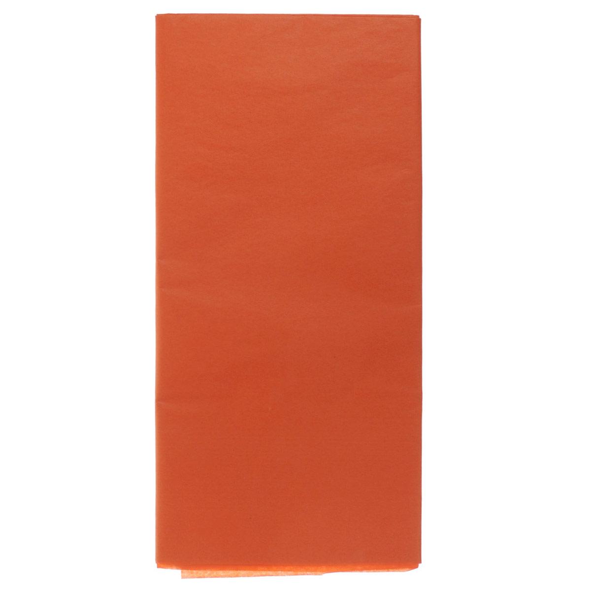 Бумага папиросная Folia, цвет: оранжевый (40), 50 см х 70 см, 5 листов. 7708123_40SS 4041Бумага папиросная Folia - это великолепная тонкая и эластичная декоративная бумага. Такая бумага очень хороша для изготовления своими руками цветов и букетов с конфетами, топиариев, декорирования праздничных мероприятий. Также из нее получается шикарная упаковка для подарков. Интересный эффект дает сочетание мягкой полупрозрачной фактуры папиросной бумаги с жатыми и матовыми фактурами: креп-бумагой, тутовой и различными видами картона. Бумага очень тонкая, полупрозрачная - поэтому ее можно оригинально использовать в декоре стекла, светильников и гирлянд. Достаточно большие размеры листа и богатая цветовая палитра дают простор вашей творческой фантазии. Размер листа: 50 см х 70 см.Плотность: 20 г/м2.