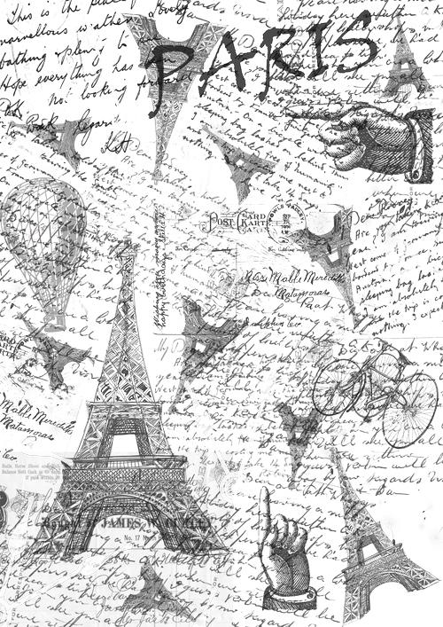 Калька для скрапбукинга Париж, 21 см х 30