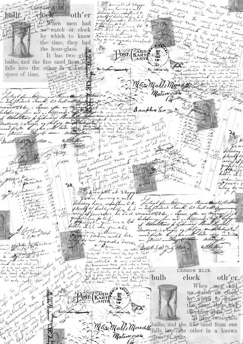 Калька для скрапбукинга Почтовые открытки, 21 см х 30