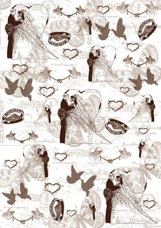 Пленка-оверлей для скрапбукинга Свадьба, 21 см х 30 см19201Пленка-оверлей Свадьба - прозрачная пленка с нанесенным рисунком. Используется чаще всего в скрапбукинге для декорирования фотографий, альбомов, открыток, блокнотов, сувенирных книг и прочего. Для крепления пленки используются разные способы - люверсы, машинная строчка, можно привязать ленточкой, сделав надрез или отверстие, можно приклеить на клей (двухсторонний скотч, и т.п.) и задекорировать это место другими элементами украшений (цветочками, ленточками, пуговками, аппликациями). На пленке можно писать перманентной ручкой или маркером.