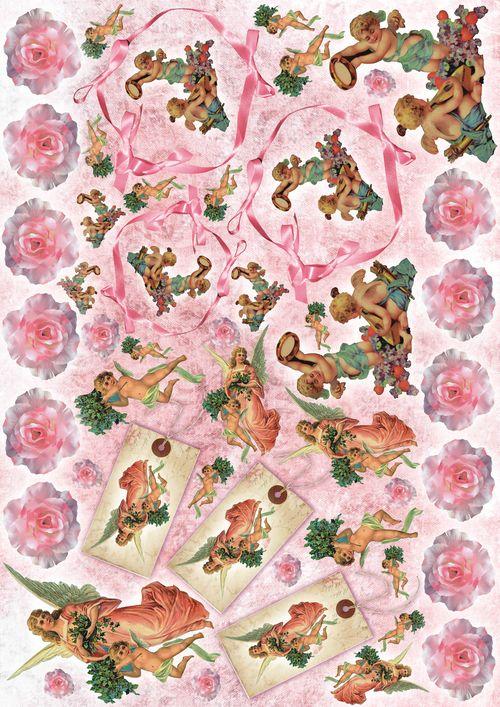 Рисовая бумага для декупажа Ангелы с розами, 21 см х 30 см335-44-11-D05Рисовая бумага для декупажа Ангелы с розами - мягкая бумага с выраженной волокнистой структурой легко повторяет форму любых предметов. При работе с этой бумагой вам не потребуется никакой дополнительной подготовки перед началом работы. Вы просто вырезаете или вырываете нужный фрагмент, и хорошо проклеиваете бумагу на поверхности изделия. Рисовая бумага для декупажа идеально подходит для стекла. В отличие от салфеток, при наклеивании декупажная бумага практически не рвется и совсем не растягивается. Клеить ее можно как на светлую, так и на темную поверхность. Для новичков в декупаже - это очень удобно и гарантируется хороший результат. Поверхность, на которую будет клеиться декупажная бумага, подготавливают точно так же, как и для наклеивания салфеток, распечаток и т.д. Мотив вырезаем точно по контуру и замачиваем в емкости с водой, обычно не больше чем на одну минуту, чтобы он полностью впитал воду. Вынимаем и промакиваем бумажным или обычным полотенцем с двух сторон. Равномерно наносим клей на оборотную сторону фрагмента, и на поверхность предмета, с которым работаем. Прикладываем мотив на поверхность и сверху промазываем кистью с клеем легкими нажатиями, стараемся избавиться от пузырьков воздуха, как бы выдавливая их. Делать это нужно от середины к краям мотива. Оставляем работу сушиться. После того, как работа высохнет, нужно покрыть ее лаком.Декупаж - техника декорирования различных предметов, основанная на присоединении рисунка, картины или орнамента (обычного вырезанного) к предмету, и, далее, покрытии полученной композиции лаком ради эффектности, сохранности и долговечности.