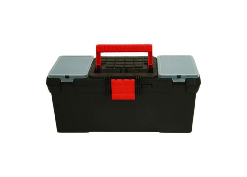 Ящик для инструмента пластиковый FIT 16, цвет: черный,красный 39 см х 20 см х 17 см2706 (ПО)Ящик для инструментов FIT 65528 предназначен для хранения и переноски инструмента. Его корпус изготовлен из прочного пластика. Имеется подвижный лоток и 2 съемных органайзера. Усиленная рукоятка обеспечивает надежную транспортировку инструментов. Характеристики: Материал:пластик. Размеры ящика: 39 см х 20 см х 17 см. Глубина ящика: 11 см. Размеры лотка: 37 см х 17 см х 4 см. Размеры органайзеров: 10 см х 18 см х 2,5 см. Размеры упаковки: 39 см х 20 см х 17 см. УВАЖАЕМЫЕ КЛИЕНТЫ! Обращаем ваше внимание на возможные варьирования в цветовом дизайне ручки ящика и защелки. Поставка осуществляется в зависимости от наличия на складе.