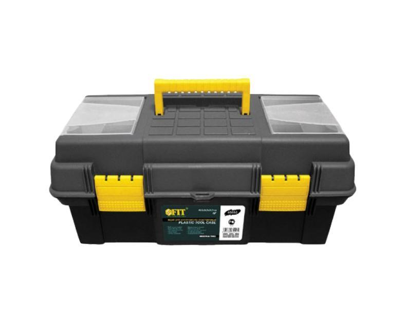 Ящик для инструментов пластиковый FIT, 48,5 х 24,5 х 21,5 см2706 (ПО)Ящик для инструментов FIT 65553 предназначен для хранения и переноски инструмента. Его корпус изготовлен из прочного пластика. Имеется подвижный лоток и два съемных органайзера. Усиленная рукоятка обеспечивает надежную транспортировку инструментов. Характеристики: Материал:пластик. Размеры ящика: 48,5 см х 24,5 см х 21,5 см. Глубина ящика: 11 см. Размеры лотка: 46 см х 19 см х 3,5 см. Размеры органайзеров: 15 см х 11 см х 3,5 см. Размеры упаковки: 48,5 см х 24,5 см х 21,5 см.