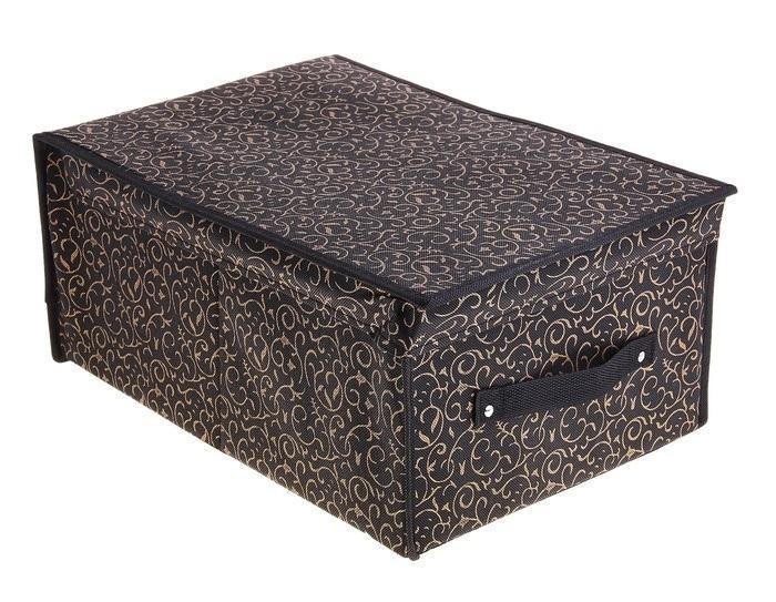 контейнер для хранения(жёсткий)45*30*20см,кофейный 709738RG-D31SДекоративный контейнер - отличный способ для хранение вещей!Благодаря универсальности изделия, в контейнере можно хранить самые разнообразные вещи: бижутерию, лекарства, швейные принадлежности.Такой контейнер поможет держать вещи в порядке. Декоративный контейнер даст Вам возможность сохранить все в одном месте, а также защитить вещи от пыли, грязи и влаги. Материал: флизелин,картон