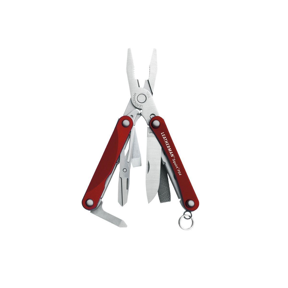 Leatherman Squirt PS4 мультитул, RedEMTD-06Мультитул Leatherman Squirt PS4 - стильный, удобный, очень компактный и небольшого веса. Корпус выполнен из нержавеющей стали, накладки рукояток - анодированный алюминиевый сплав.Мультитул можно использовать как брелок для ключей. Мультитул упакован в металлическую коробку.Инструменты:Нож прямой; Плоскогубцы; Кусачки для проводов; Средняя плоская отвертка; Крестовая отвертка; Ножницы; Напильник по дереву и металлу; Открывалка для бутылок. Характеристики:Длина (в сложенном виде): 5,5 см. Длина (в открытом виде): 10 см. Вес: 56,4 г. Материал: нержавеющая сталь 420НС, анодированный алюминиевый сплав 6061-T6. Артикул: 831228. Производитель: США. Инструменты Leatherman произведены в США. Только у ТМ Leatherman действительная Фирменная Гарантия 25 лет, она осуществляется путем обмена поврежденного изделия на новое. Без экспертиз и долгого ожидания. Продукция сертифицирована на территории РФ. Гарантийный срок25 лет. Возврат товара возможен только через сервисный центр.Время работысервисного центра: Пн-чт: 10.00-18.00Пт:10.00- 17.00Сб, Вс: выходные дниАдрес:129223, Россия, Москва, пр-кт Мира, 119 (ВВЦ), строение 323.