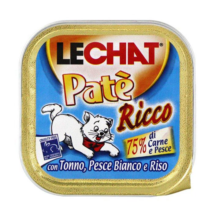 Консервы для кошек Monge Lechat, с тунцом и океанической рыбой, 100 г70008228Консервы для кошек Monge Lechat - это полноценный сбалансированный корм для кошек с тунцом и океанической рыбой. Состав: тунец 41%, океаническая рыба 8%, мясо и мясные субпродукты 12%, рис 4,2%, минеральные вещества, сахар, витамины. С разрешенными в ЕЭС консервантами. Анализ компонентов: протеин 8%, жир 7,5%, клетчатка 0,5%, зола 2,5%, влажность 81%. Витамины и добавки на 1 кг: витамин Е 5 мг. Товар сертифицирован.