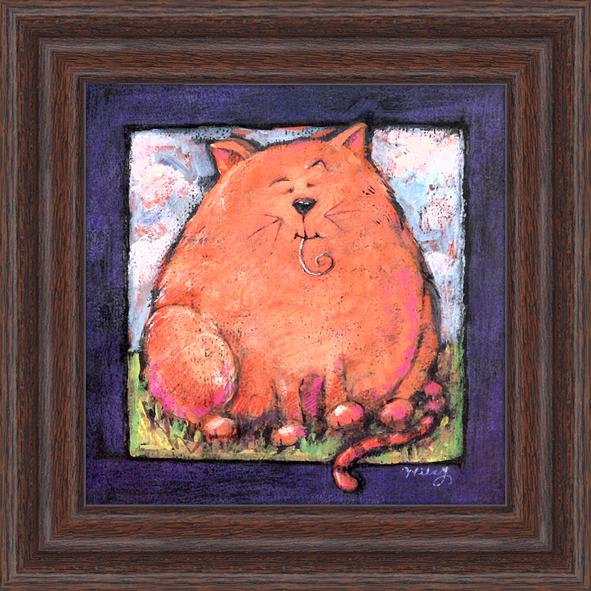 Пухлый кот. 18см х 18смSL117.503.04Постер, в глянцевой ламинации, и пластиковой раме.