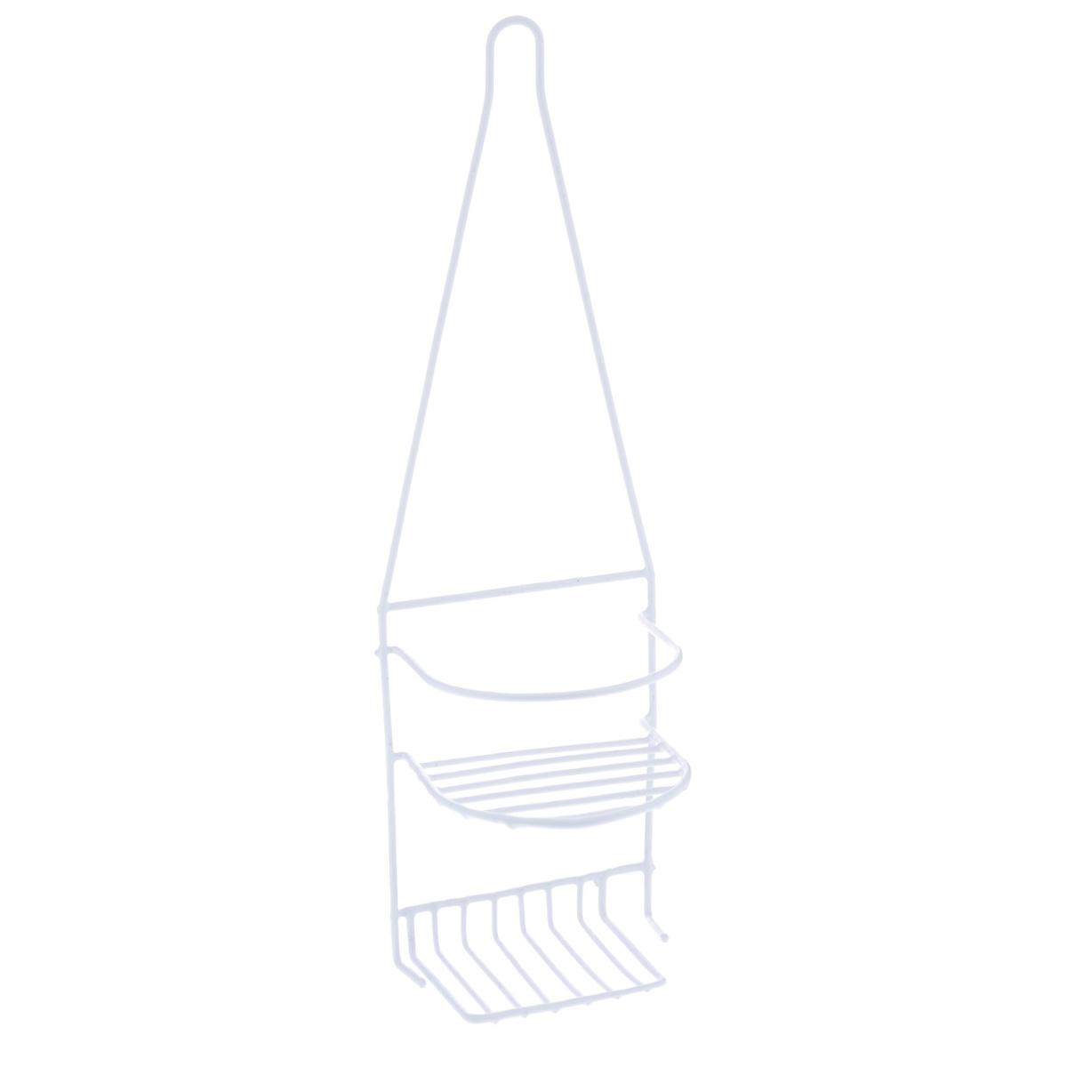 Полка Доляна, 2-х ярусная, цвет: белый, высота 44 см. 85295897678Полка Доляна выполнена из высококачественного металла и предназначена для хранения вещей в ванной комнате. Полка состоит из 2-х ярусов. Она пригодится для хранения различных предметов, которые всегда будут под рукой.Благодаря компактным размерам полка впишется в интерьер вашего дома и позволит вам удобно и практично хранить предметы домашнего обихода.Удобная и практичная металлическая полочка станет незаменимым аксессуаром в вашем хозяйстве.Высота полки: 44 см.Расстояние между ярусами: 9,5 см.Размер верхнего яруса: 12,5 см х 12,5 см.Размер нижнего яруса: 12,5 см х 8,5 см.