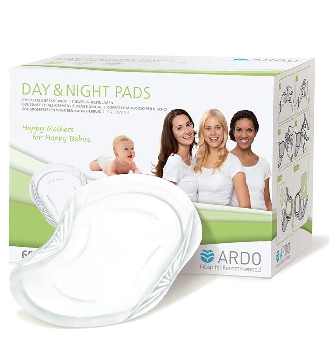 """Одноразовые прокладки для бюстгальтера Ardo Medical """"Day & Night Pads"""" имеют уникальную технологию, которая защищает от протекания грудного молока днем и ночью. Накладки очень мягкие и удобные при ношении, адаптируются к груди. Особенности: Две клейкие полоски надежно фиксируют прокладку. Дополнительная защита от протекания по краям для большей надежности. Мягкие, сверхтонкие и удобные. Эргономичный 3D дизайн по форме груди. В индивидуальной гигиенической упаковке. Товар сертифицирован."""