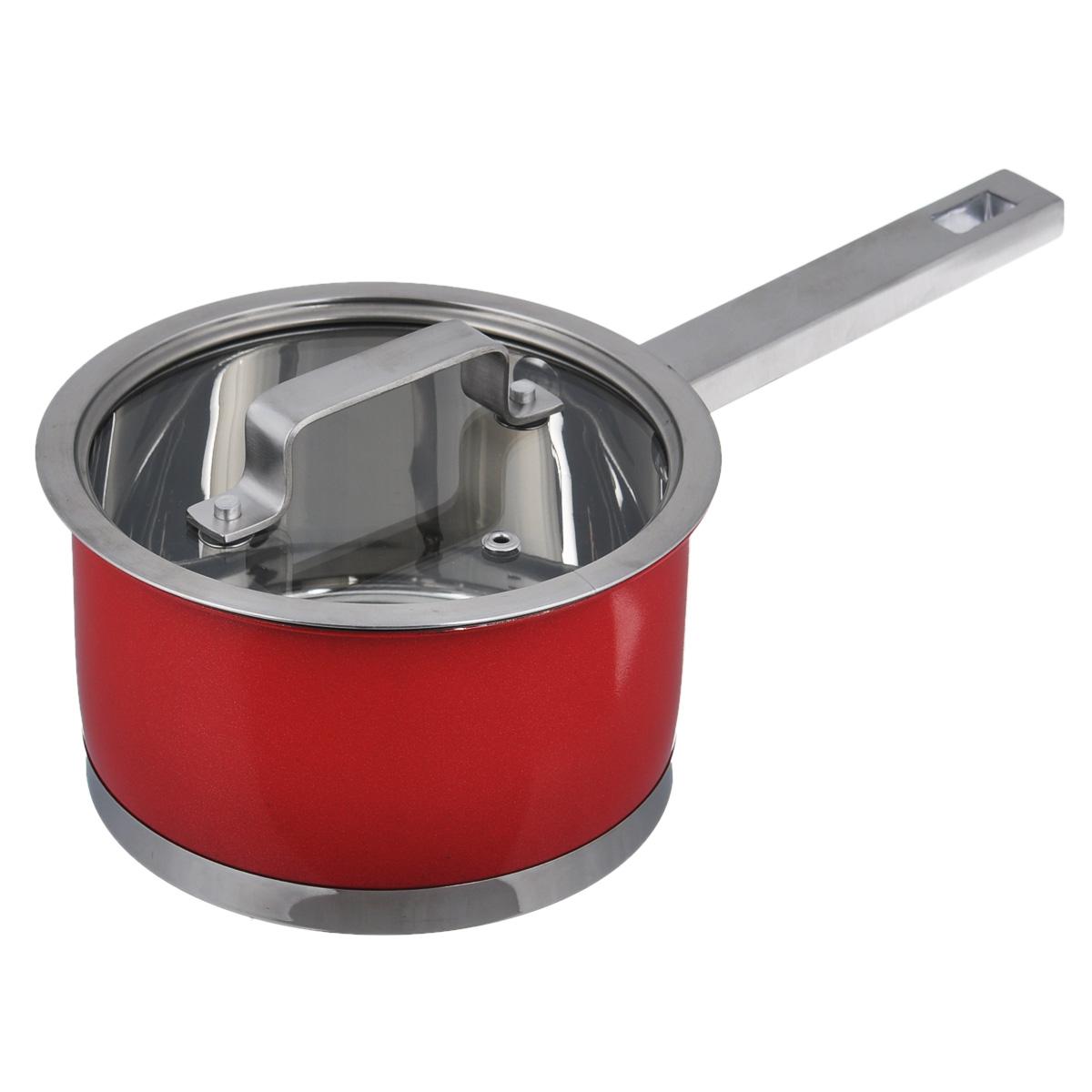 Ковш Bohmann с крышкой, цвет: красный, 1,9 л115423Ковш Bohmann, изготовленный из высококачественной нержавеющей стали. Ковш имеет капсульное дно с алюминиевым основанием, которое быстро и равномерно накапливает тепло и так же равномерно передает его пище. Оно позволяет готовить блюда с минимальным количеством воды и жира, сохраняя при этом вкусовые и питательные вещества продуктов. Внешняя поверхность ковша оформлена сочетанием зеркальной и матовой цветной полировки. Изделие оснащено удобной ручкой из нержавеющей стали. Крышка ковша изготовлена из жаропрочного стекла и оснащена отверстием для выхода пара, ободком из нержавеющей стали и удобной ручкой. Благодаря особенному дизайну крышки, пар, образующийся в процессе приготовления, собирается в центре крышки и, конденсируясь, капает на дно кастрюли. Крышка и обод кастрюли имеют такую форму, что между ними образуется водное кольцо, предотвращающее испарение влаги и потерю вкусовых свойств продуктов.Ковш Bohmann - это идеальный подарок для современных хозяек, которые следят за своим здоровьем и здоровьем своей семьи. Эргономичный дизайн и функциональность позволят вам наслаждаться процессом приготовления любимых и полезных для здоровья блюд. Можно мыть в посудомоечной машине. Пригоден для всех типов плит, включая индукционные. Длина ручки ковша: 16 см.Высота стенок: 9,5 см.Толщина стенок: 2 мм.Толщина дна: 4 мм. Диаметр по верхнему краю: 17 см. Диаметр дна: 15,5 см.
