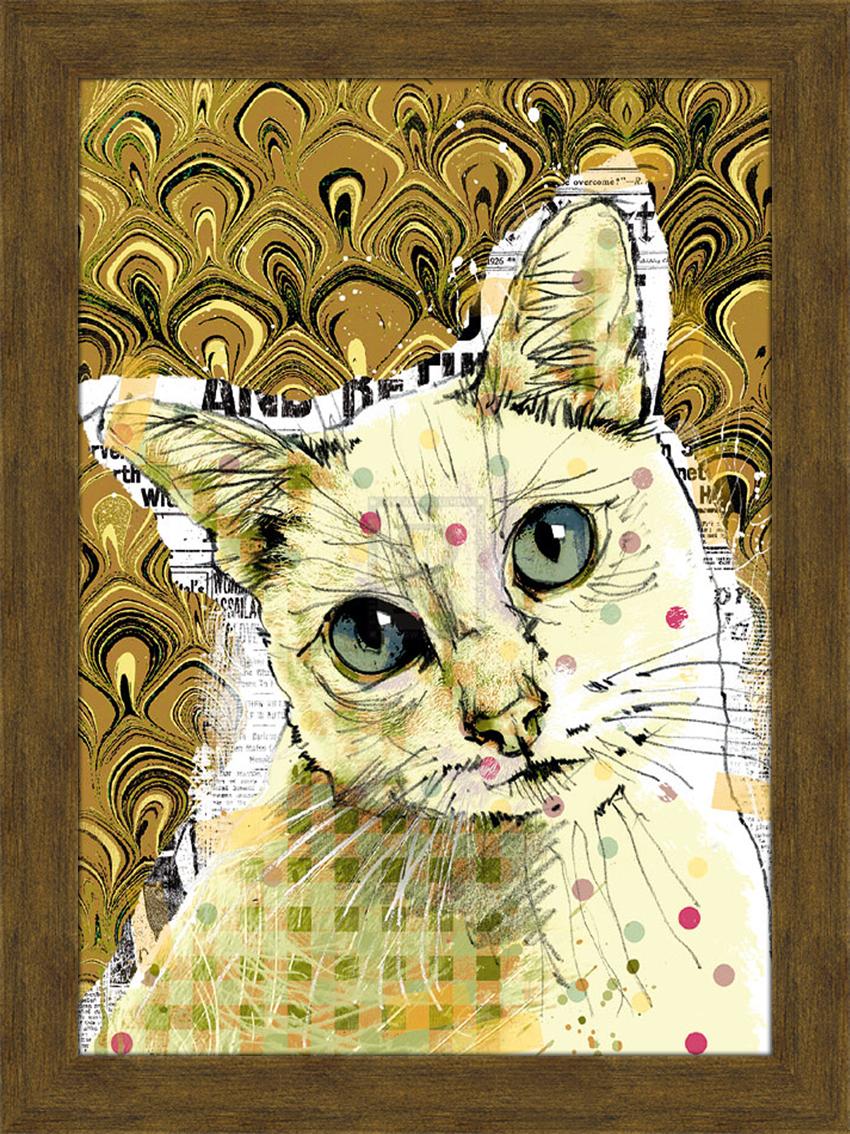 Арт-постер в раме Портрет кошки с зелеными глазами, 29 х 39 см17071Арт-постер - современное и актуальное направление в дизайне любых помещений.На арт-постере Портрет кошки с зелеными глазами изображена кошка. Изделие выполнено из дерева в глянцевой ламинации и оформлено пластиковой рамой. С задней стороны имеется две петельки для подвешивания к стене.Арт-постер Портрет кошки с зелеными глазами прекрасно подойдет для оформления дома, офиса или ресторана. Размер арт-постера (с рамой): 35 см х 46 см.Размер арт-постера (без рамы): 29 см х 39 см.