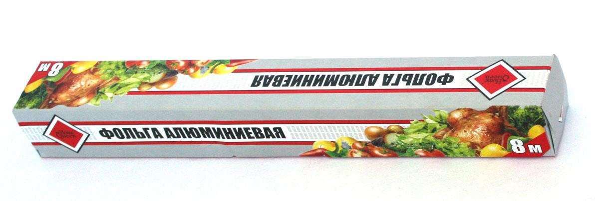 Фольга алюминиевая Home Queen, 8 м115510Фольга алюминиевая Home Queen применяется для хранения, запекания и транспортировки продуктов. Позволяет приготовить мясо, курицу, овощи с сохранением вкуса и аромата, без масла и жира, усиливает аромат приправ. Пища готовиться в собственном соку. Предохраняет от запахов кухню, защитит духовку от загрязнений.Длина: 8 м.Ширина: 29 см.