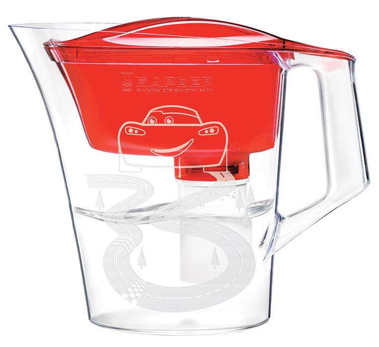 Фильтр-кувшин для воды Барьер Тачки, со сменной кассетой, цвет: красный, 4 лDH2400D/ORФильтр-кувшин Тачки изготовлен из высококачественного пластика,рекомендованного для контакта с питьевой водой (BPA-free) и предназначен дляочистки воды. Очищенную воду можно давать детям с 4-х лет.Прочное полимерное уплотнение и герметичная резьба исключают попаданиенеочищенной воды из воронки в кувшин. В набор входит сменная кассета исказочные наклейки, позволяющие создать кувшин неповторимым.Уникальные технологии очистки и минерализации воды разработаны с учетом норм физиологической потребности детей от 4 лет в витаминах и минералах. Микроэлементы, входящие в состав кассеты, делают воду вкусной и полезной для ребенка (обогащение фтором и магнием). Фильтр-кувшин Тачки и кассета сменная Тачки одобрены Межрегиональной общественной организацией Ассоциация Заслуженных врачейРоссийской Федерации для организации питьевого режима детей от 4 лет.Материал: высококачественный пластик.Объем кувшина: 4 л. Объем воронки 1,4 л. Объем очищенной воды: 1,6 л. Размер кувшина (ВхШХГ): 252 мм х 296 мм х 142 мм. Количество сказочных наклеек: 12 шт.Количество наклеек с месяцами года: 12 шт.