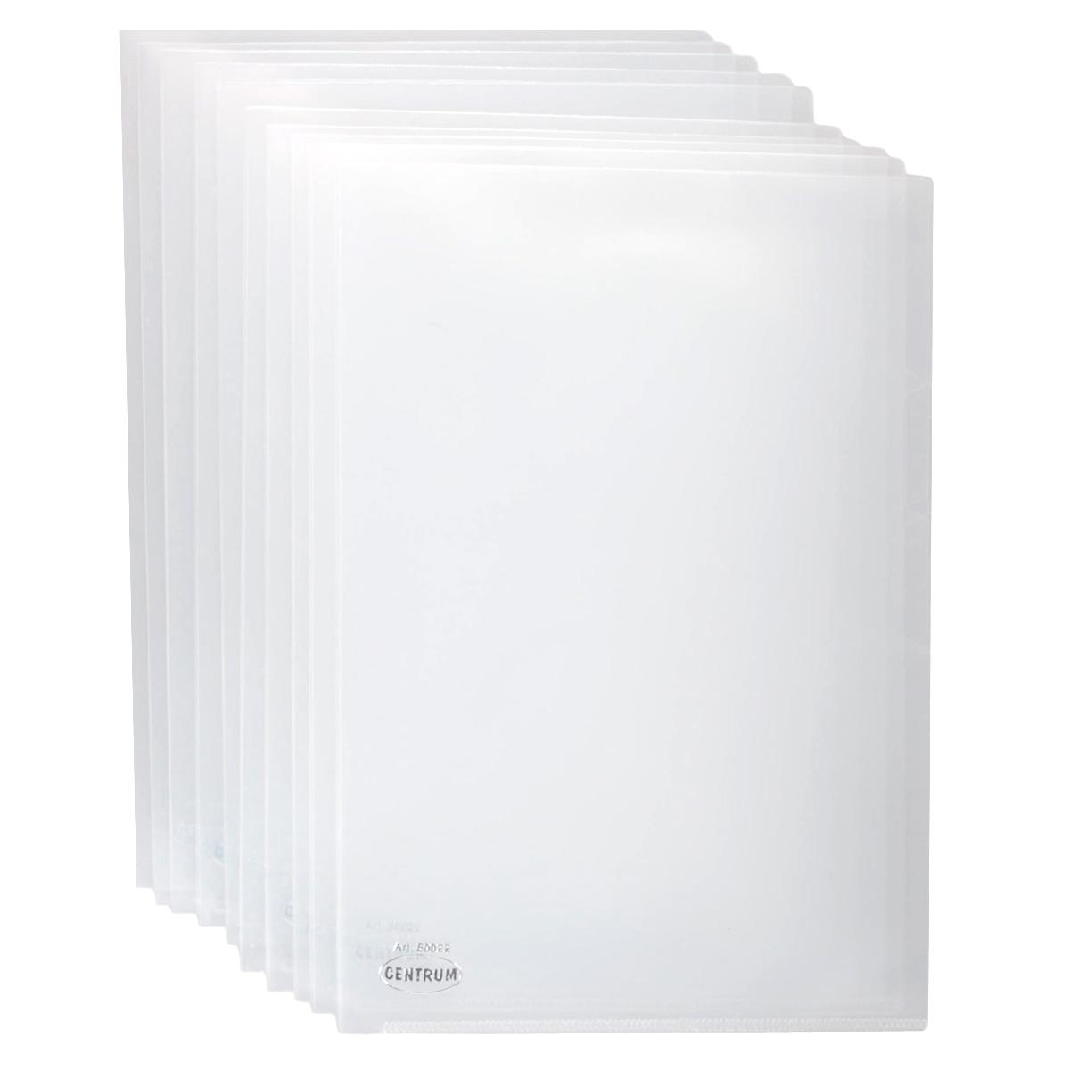 Папка-уголок Сentrum, 3 отделения, цвет: прозрачный. Формат А4, 10 штПР4_10642Папка-уголок Centrum - это удобный и практичный офисный инструмент, предназначенный для хранения и транспортировки рабочих бумаг и документов формата А4. Папка изготовлена из прозрачного глянцевого пластика, имеет три отделения с индексами-табуляторами. В комплект входят 10 папок формата А4. Папка-уголок - это незаменимый атрибут для студента, школьника, офисного работника. Такая папка надежно сохранит ваши документы и сбережет их от повреждений, пыли и влаги.