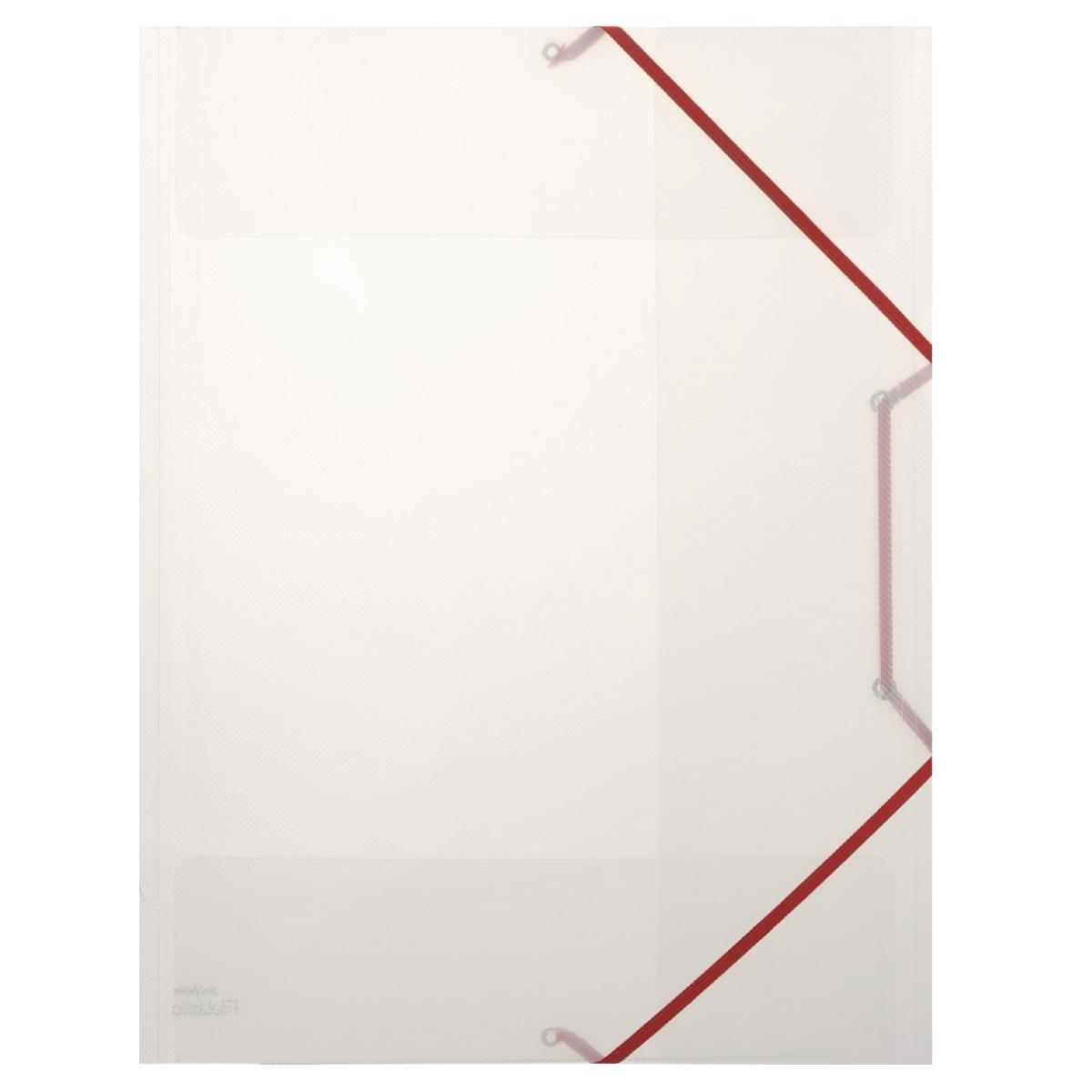 Папка-конверт на резинке Snopake Filelastic, цвет: прозрачный. Формат А3K13713