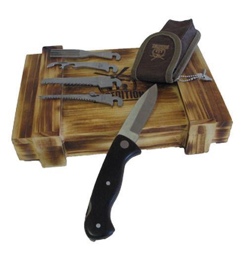 Набор выживания в подарочной коробке Экспедиция, 6 предметов. ECS-05 кожаная повязка на глаза