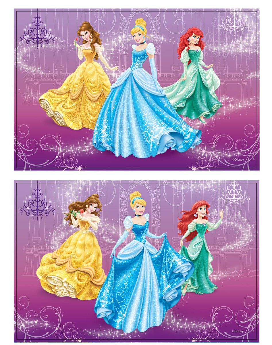 Термосалфетка 3D Disney Принцессы, 43 х 28 см