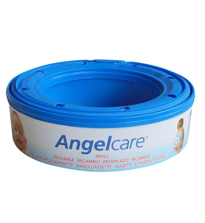 """Комплект """"Angelcare"""" состоит из трех сменных кассет к накопителю для подгузников. Одна кассета вмещает до 128 подгузников размера 2. Герметичность обеспечена благодаря запатентованному многослойному пакету."""