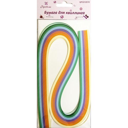 Бумага для квиллинга Рукоделие Ассорти-4, ширина 0,5 см, длина 54 см, 6 цветов, 120 шт09840-20.000.00Бумага для квиллинга Рукоделие Ассорти-4 - это порезанные специальным образом полоски бумаги определенной плотности. Такая бумага пластична, не расслаивается, легко и равномерно закручивается в спираль, благодаря чему готовым спиралям легче придать форму. Квиллинг (бумагокручение) - техника изготовления плоских или объемных композиций из скрученных в спиральки длинных и узких полосок бумаги. Из бумажных спиралей создаются необычные цветы и красивые витиеватые узоры, которые в дальнейшем можно использовать для украшения открыток, альбомов, подарочных упаковок, рамок для фотографий и даже для создания оригинальных бижутерий. Это простой и очень красивый вид рукоделия, не требующий больших затрат. Длина полоски бумаги: 54 см. Ширина полоски бумаги: 5 мм. Количество цветов: 6.