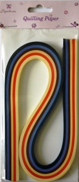 Бумага для квиллинга Рукоделие Ассорти-2, ширина 0,5 см, длина 54 см, 6 цветов, 120 шт55052Бумага для квиллинга Рукоделие Ассорти-2 - это порезанные специальным образом полоски бумаги определенной плотности. Такая бумага пластична, не расслаивается, легко и равномерно закручивается в спираль, благодаря чему готовым спиралям легче придать форму. Квиллинг (бумагокручение) - техника изготовления плоских или объемных композиций из скрученных в спиральки длинных и узких полосок бумаги. Из бумажных спиралей создаются необычные цветы и красивые витиеватые узоры, которые в дальнейшем можно использовать для украшения открыток, альбомов, подарочных упаковок, рамок для фотографий и даже для создания оригинальных бижутерий. Это простой и очень красивый вид рукоделия, не требующий больших затрат. Длина полоски бумаги: 54 см. Ширина полоски бумаги: 5 мм. Количество цветов: 6.