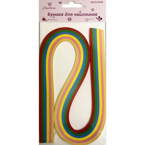 Бумага для квиллинга Рукоделие Ассорти-3, ширина 0,3 см, длина 54 см, 6 цветов, 120 шт55052Бумага для квиллинга Рукоделие Ассорти-3 - это порезанные специальным образом полоски бумаги определенной плотности. Такая бумага пластична, не расслаивается, легко и равномерно закручивается в спираль, благодаря чему готовым спиралям легче придать форму. Квиллинг (бумагокручение) - техника изготовления плоских или объемных композиций из скрученных в спиральки длинных и узких полосок бумаги. Из бумажных спиралей создаются необычные цветы и красивые витиеватые узоры, которые в дальнейшем можно использовать для украшения открыток, альбомов, подарочных упаковок, рамок для фотографий и даже для создания оригинальных бижутерий. Это простой и очень красивый вид рукоделия, не требующий больших затрат. Длина полоски бумаги: 54 см. Ширина полоски бумаги: 3 мм. Количество цветов: 6.