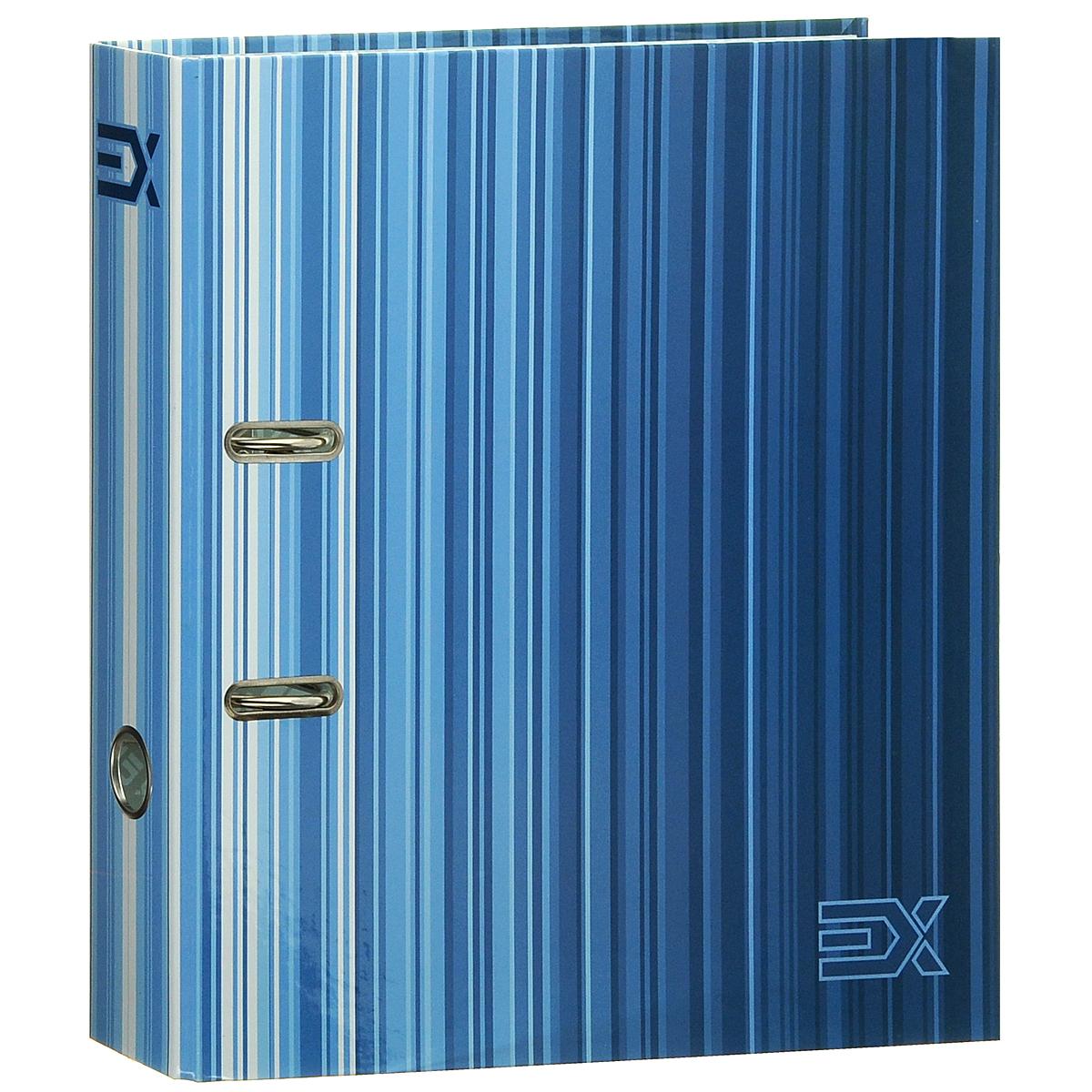 Index Папка-регистратор Extra цвет синий белыйPF317-TF-04Папка-регистратор Index Extra незаменима для работы с большими объемами бумаг дома и в офисе.Папка изготовлена из износостойкого высококачественного картона толщиной 2 мм, имеет ламинацию как снаружи, так и внутри. Папка оснащена прочным металлическим арочным механизмом, обеспечивающим надежную фиксацию перфорированных бумаг и документов формата А4. На торце папки расположено металлическое кольцо для удобства использования. Обложка папки оформлена полосками различных оттенков.Папка-регистратор станет вашим надежным помощником, она упростит работу с бумагами и документами и защитит их от повреждения, пыли и влаги.